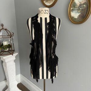 Umgee black lace vest
